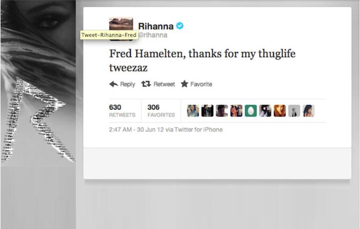 Rihannas tweet til meg!!!